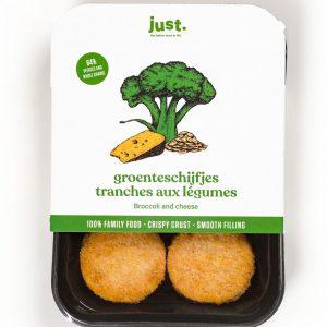 Verse just.-groenteschijfjes met broccoli en kaas